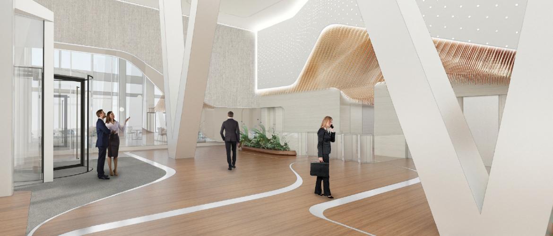 Verbouwing lobby UNStudio Amsterdam